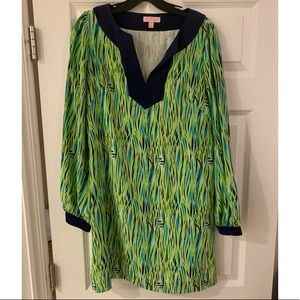 Lilly Pulitzer blue/green long sleeve dress